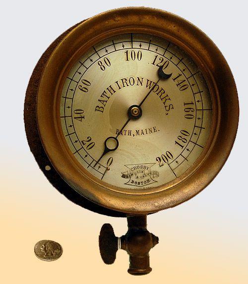 No 35 measuring up gauges indicators scales maine maritime museum steampunk - Steampunk pressure gauge ...