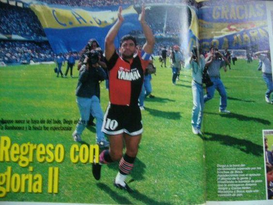 Como tantas veces...y en este caso en la Bombonera, 1993.