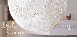 Lace lamp/Doiliy Lamp – DIY | DosFamily