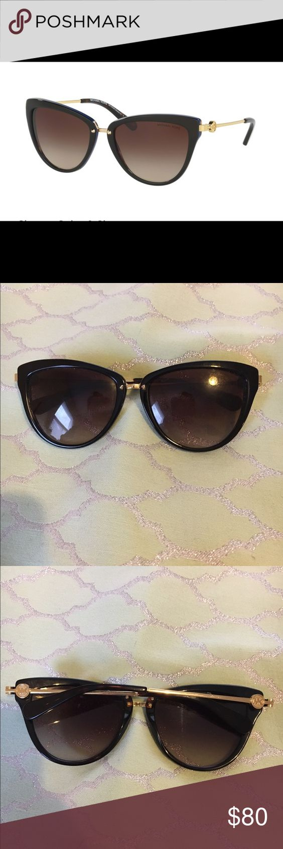 Michael Kors Abela ll sunglasses Michael Kors Abela ll sunglasses in DK tortoise blue. The front of the glasses are tortoise brown, with a blue rim on the side around them as shown in the picture with the ear pieces being tortoise brown also. They have the gold MK logo on both sides. Excellent condition. Do not have a box. Michael Kors Accessories Sunglasses