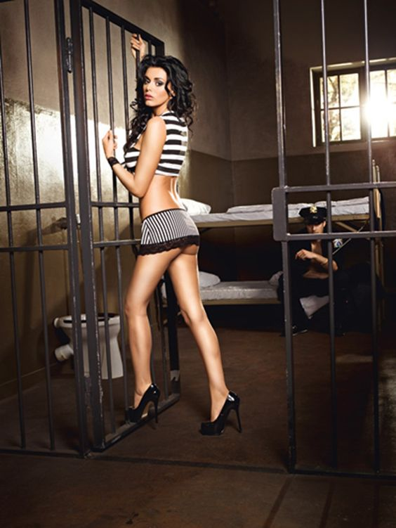 3-Delig stoute gevangene uniform voor  vanaf € 30,80. Zomer Sale Wilde Willie Weken