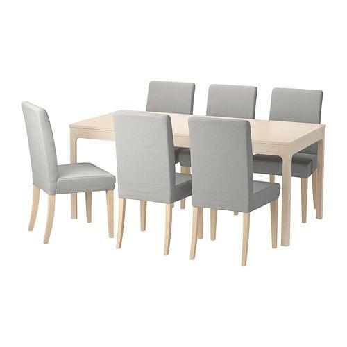 Ekedalen Henriksdal Table Et 6 Chaises Bouleau Orrsta Gris Clair Ikea Table Cuisine Ikea Chaise De Cuisine Ikea Table Et Chaise Ikea
