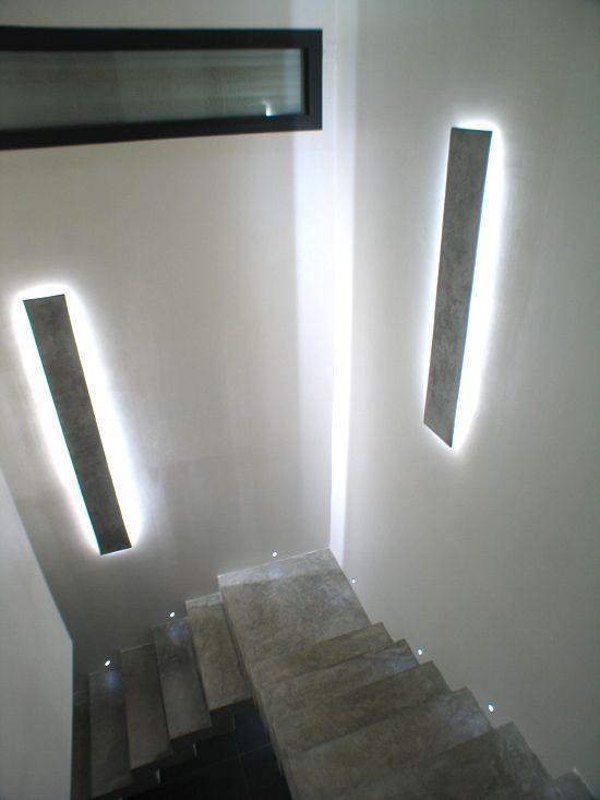 r sultat clairage led cage d 39 escalier escalier pinterest appliques led et appliqu s. Black Bedroom Furniture Sets. Home Design Ideas