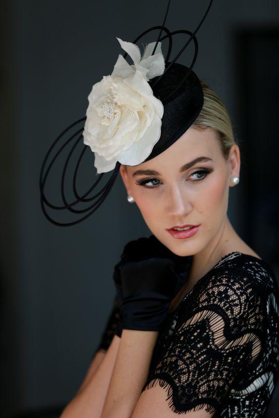 Romantic -- B/W Silk Rose Hatinator