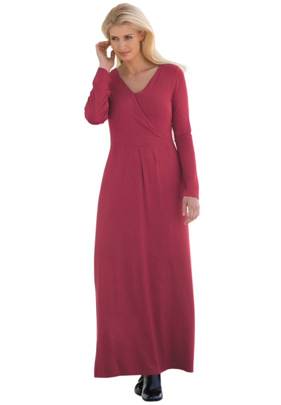 Knit Maxi Dress | Plus Size Casual Dresses | Jessica London ...