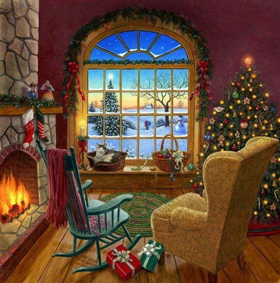 christmas paintings - Pesquisa Google: