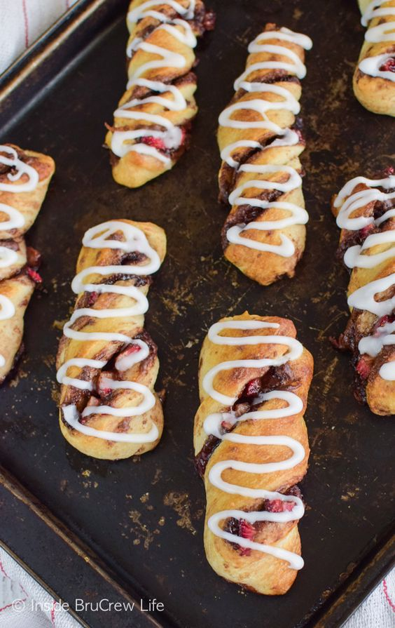 Fresh berries and chocolate make these Strawberry Nutella Twists a great breakfast or snack recipe.