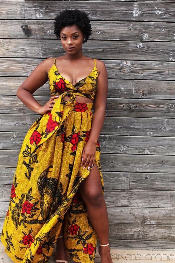 THE LEILA Skirt in Golden Yellow by AsikereAfana on Etsy. Shop the new Asikere Afana Collection.  African fashion, Ankara, kitenge, Dashiki Dress, Infinity Dress, Wrap Dress, African women dresses, African prints. African Bridal, mudcloth, African prom dress, African graduation dress.