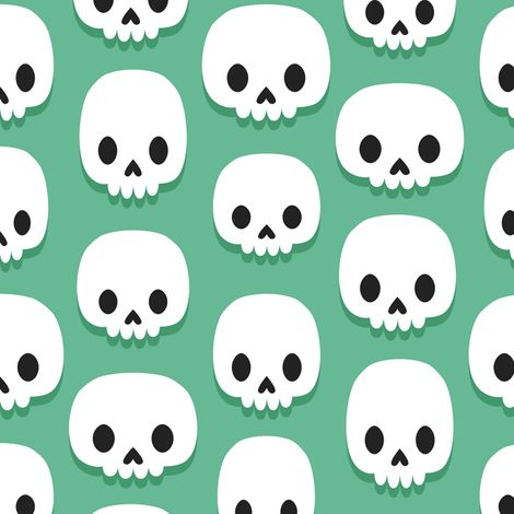 Cute skulls fabric by petitspixels on Spoonflower - custom fabric