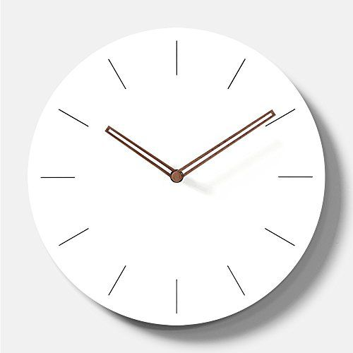 Simple Modern White Round Wooden Wall Clock 11 Inch Non T Https Www Amazon Com Dp B06y2tshpc Ref Cm Sw R Pi Dp U X Ab2 Wall Clock Modern Clock Wall Clock