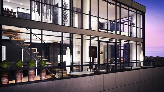 Design penthouse apartment and luxury apartments on pinterest