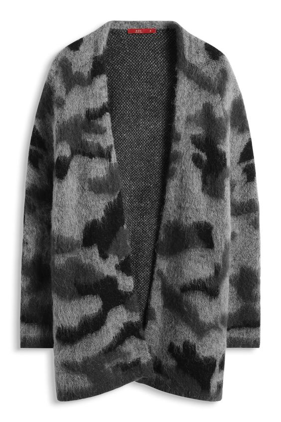 EDC / Camouflage Cardigan aus Woll-Mix