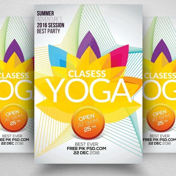 Yoga Classes Flyer Template Flyer Flyer Template Fitness Flyer