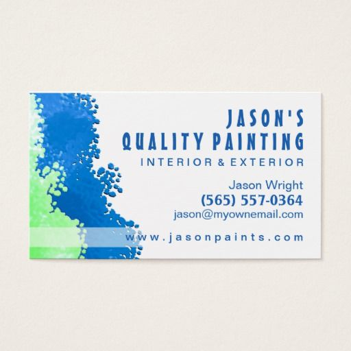 Blue Green Painter Business Card Zazzle Com Painter Business Card Painter Gifts Painting Services