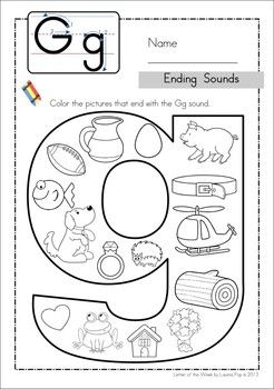 math worksheet : ending sounds  worksheets middle and kindergarten : Kindergarten Letter Sound Worksheets