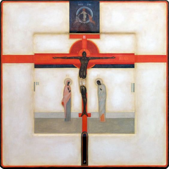 Crucifixion - Contemporary icon by Greta Lesko of Poland dans immagini sacre 9b39d94ccd6e857bd655754f9047e346