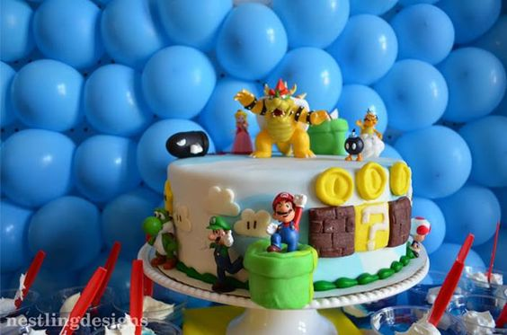 Super Mario Brothers Birthday Party: The Cake