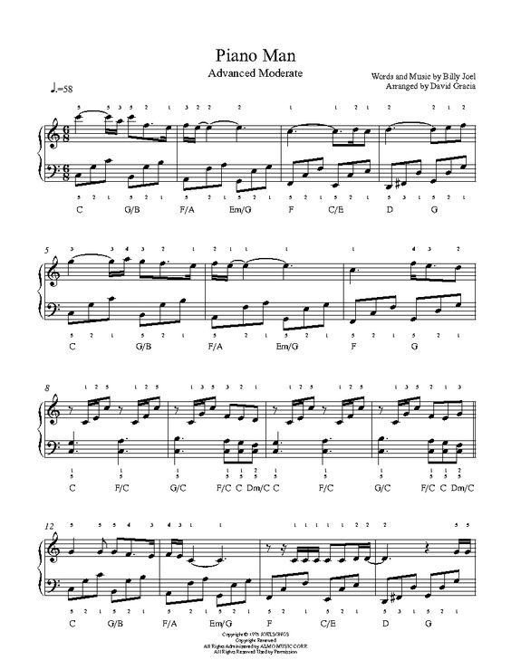 Piano piano tabs piano man : Pinterest • The world's catalog of ideas