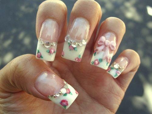 English tea party themed nails