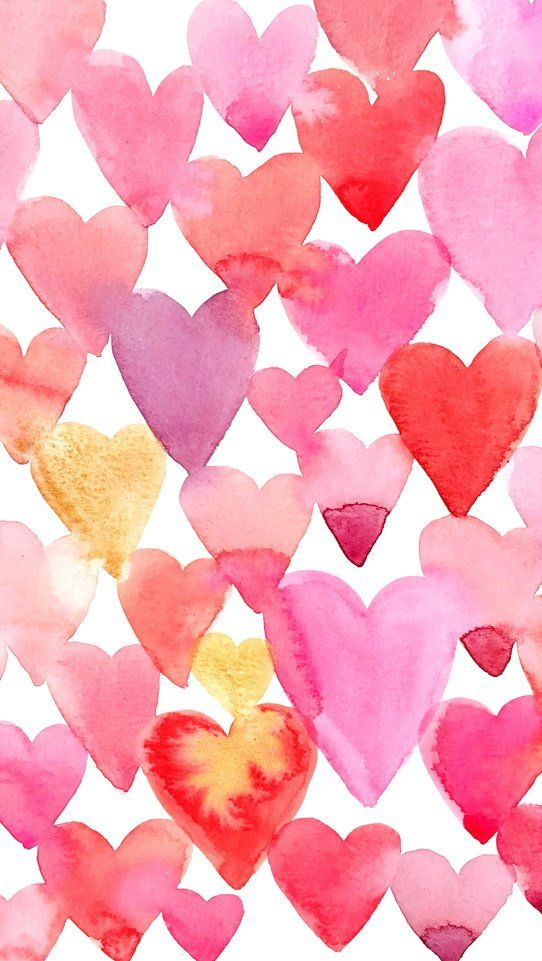 Free Valentine S Day Watercolor Phone Wallpaper Valentine Day
