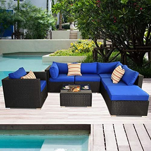 Amazing Offer On Patio Sectional Sofa Outdoor Black Rattan Couch
