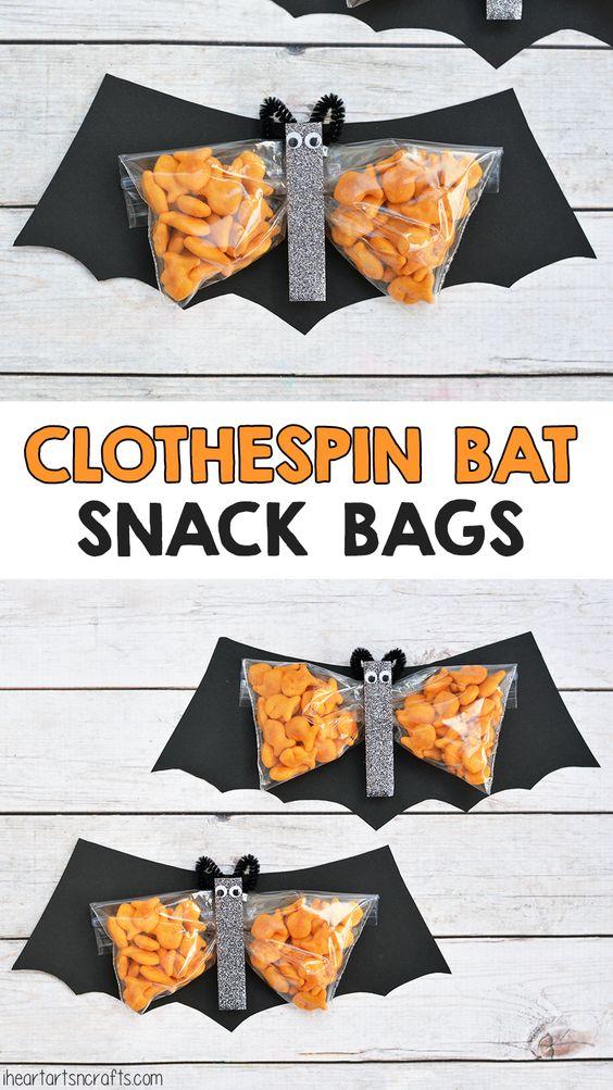 Clothespin bat preschool snack preschool preschool for Halloween food ideas for preschoolers
