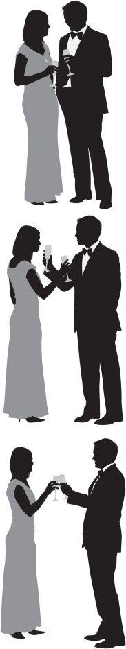 Vectores libres de derechos: Multiple images of a couple with…