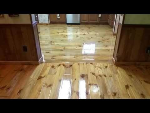 Epoxy Floor Over Pine Flooring Youtube Flooring Furniture Design Wooden Epoxy Floor