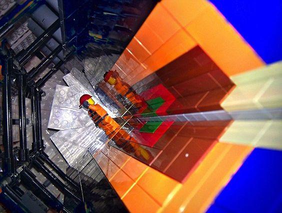 Lego hadron collider
