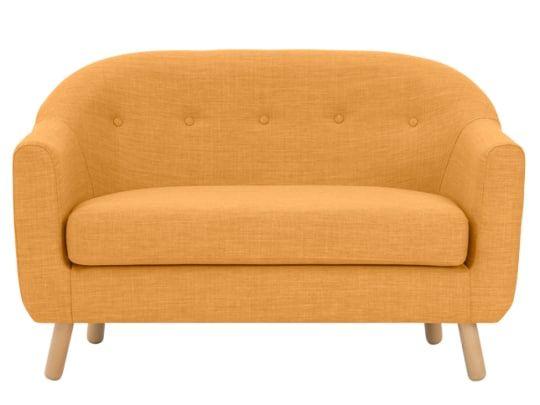 Lottie 2 Seater Sofa Honey Yellow 2 Seater Sofa Seater Sofa Small Sofa