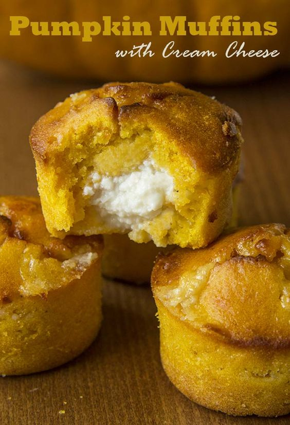 Pumpkin Muffins with Cream Cheese  www.sugarapron.com   #Pumpkin #muffins with #creamcheese mania begins…NOW!