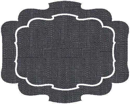 Parentesi By La Gallina Matta Ottocento Charcoal Coated Linen Placemat 19 W X 16 H Ottocento Placemats La Gallina Matta Sh Placemats Decor Home Decor