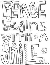 Peace begins with a smile - mother teresa doodle art | mother ...