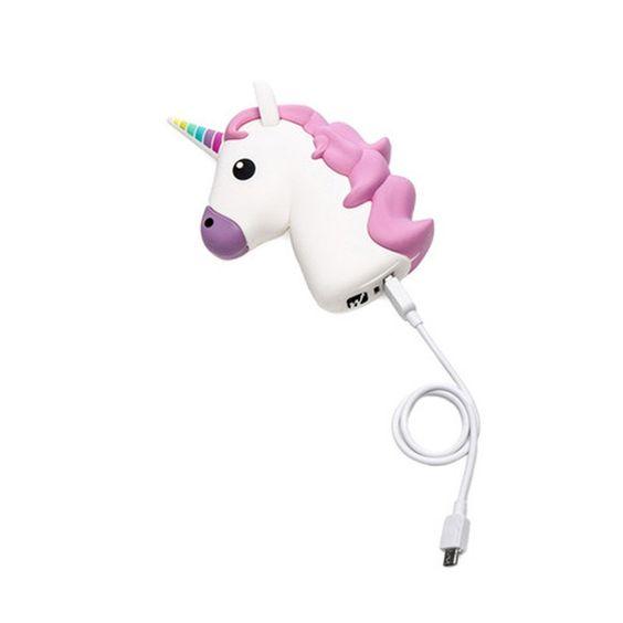 Kawaii Unicorn Emoji Portable Powerbank Charger Accessory for IOS & Android Phones