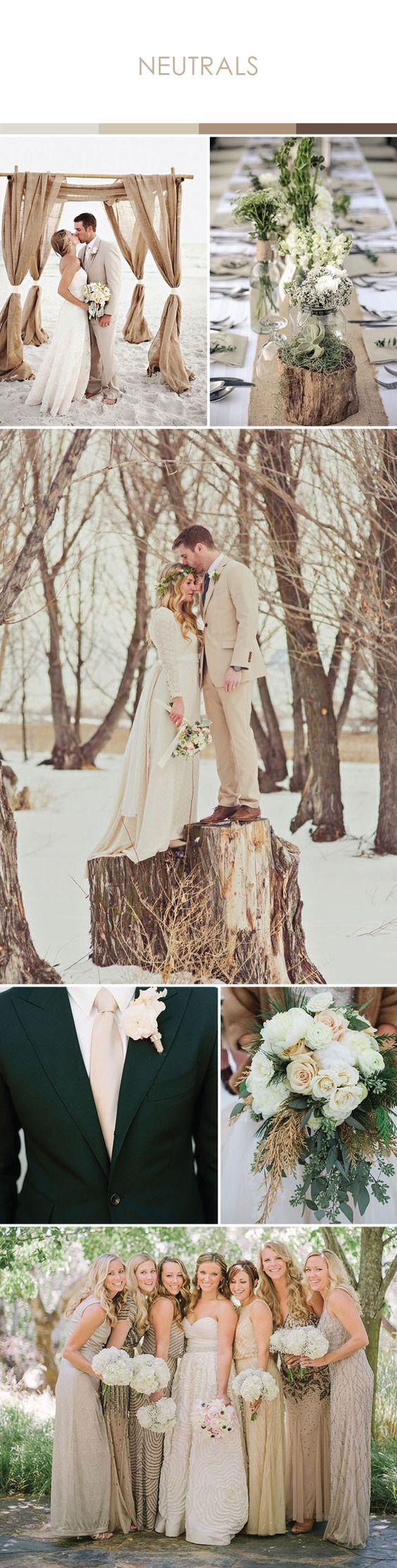 Latte Wedding Ideas  |  Inspiration for Latte + Neutral Toned Weddings.