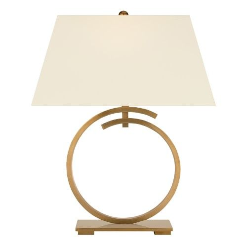 Launcenton Antique Brass Large Ring Table Lamp Williams Sonoma In 2021 Lamp Table Lamp Antique Brass