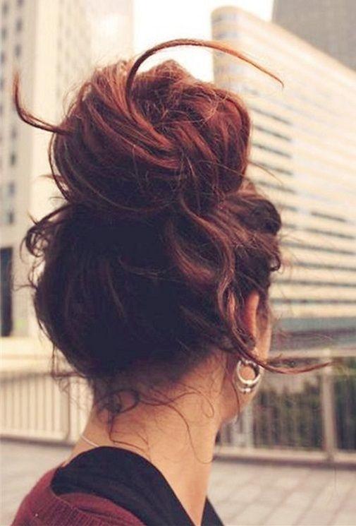 70 Cute Easy Bun Hairstyles For Women 2018 2019 Pics Bucket Frisur Hochgesteckt Lange Haare Hochsteckfrisur