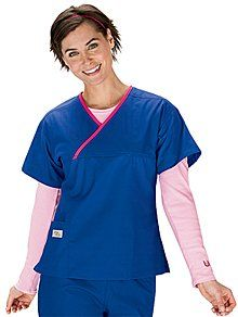 Scrubs - Cherokee Workwear Women's Snap Front Warm-Up Scrub Jackets, Assorted Solid Colors, XS-5XL for $19.99