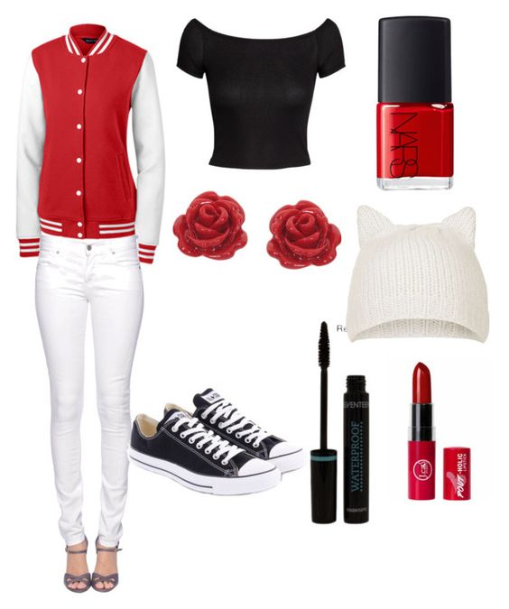 """""""Red and white is the new black!"""" by brynn-cece-cunningham on Polyvore"""