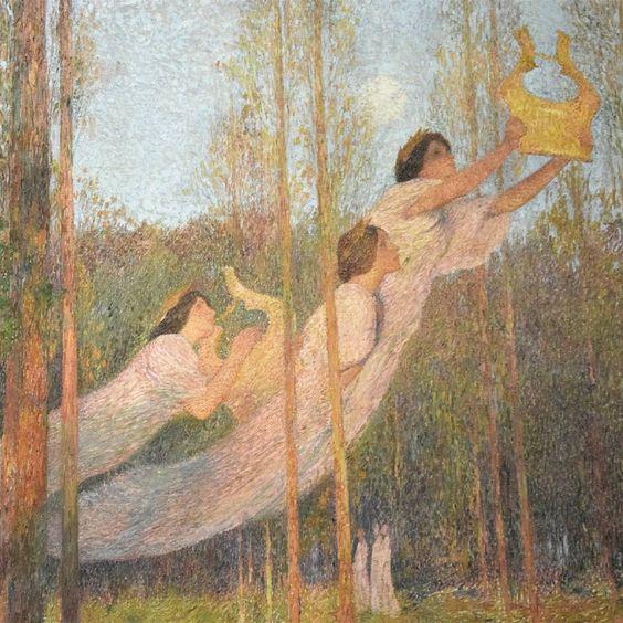 Détail. Henri Martin, Sérénité, 1899. #painting #peinture #musique #3 #woods #arthistory #musée #museedorsay