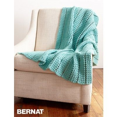 Eyelets And Textures Blanket Croceht Free Pattern
