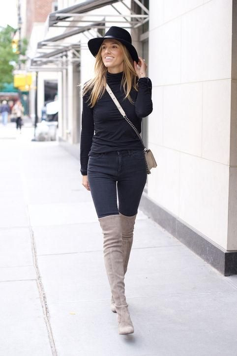 15 Ways to Wear Thigh-High Boots This Winter | High boots The o