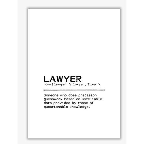 Definition Quote Lawyer Questionable Textual Art East Urban Home