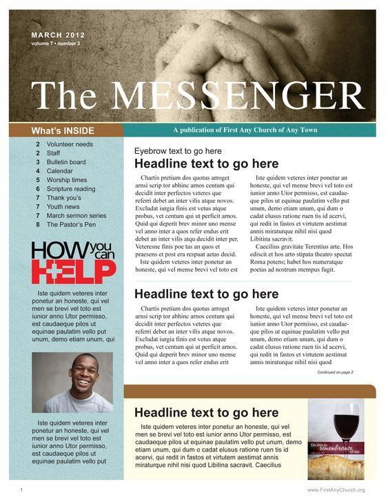 Be Still Church Newsletter Template Church Newsletter Newsletter Template Free Newsletter Design Templates