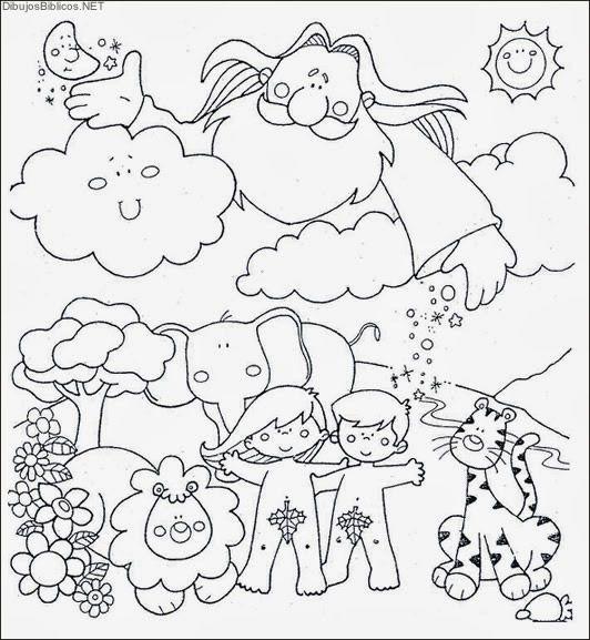 La Creacion Dibujos De La Biblia Angeles Para Colorear Imagenes Cristianas Dibujosb Dibujos De La Creacion Creacion De La Tierra La Creacion Para Ninos