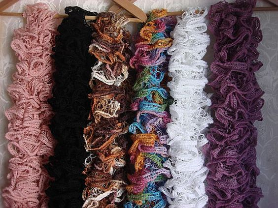 how to start a ruffle scarf