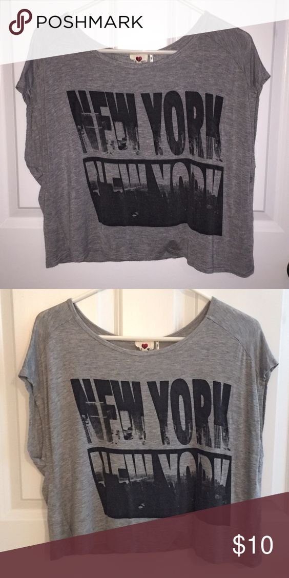 New York Crop Top This is a gray crop top with New York written twice on it. It is a size large. Never worn before! Tops Crop Tops