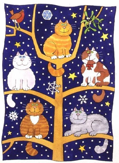 """Five Christmas Cats"" by Cathy Baxter:"