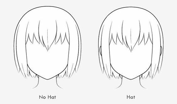 Độ phồng của tóc anime khi có mũ và không có mũ
