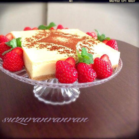 あみちゃんのおかげでまた作れる〜ありがと〜*\(^o^)/* 次男の大好きな生チーズケーキで、お誕生日ケーキ - 237件のもぐもぐ - Amiさんの料理 the process of making生チーズケーキ♬ by suzuranranran